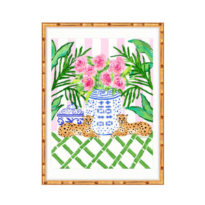 Pattern Play Pink & White Cabana Stripe
