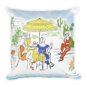 Poolside Gossip Pillow