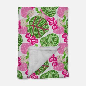 Pink and Green Sea Grape Blanket