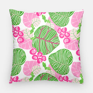 Pink and Green Sea Grape Pillow | 20x20