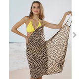 🦓Brown zebra/pink paisley/nude shapes bikini coverup