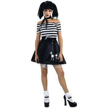 🧟‍♀️Gothic 50s style poodle skirt look cosplay/ Halloween costume (
