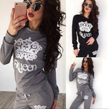 👑 Sexy queen sweatsuit set gray or black