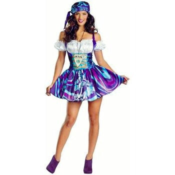 👩🏼‍🎤Halloween gypsy/beer wench/ouija dress cosplay/Halloween costume (4 piece)