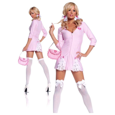 🎀Bubble gum pink Candy striper cosplay/Halloween costume (4 pc)