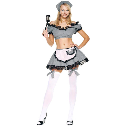 🚺French maid cosplay/halloween costume (6 pc)