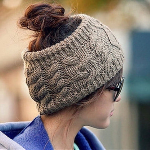 🧣Cute open top scrunchy headband beanie