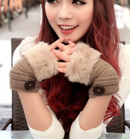 🧤 Furry Bear claw fingerless gloves