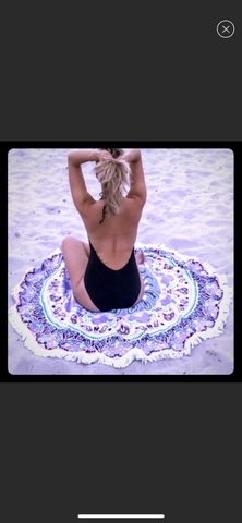 🌂Super round trendy beach blanket/Yoga throw/coverup