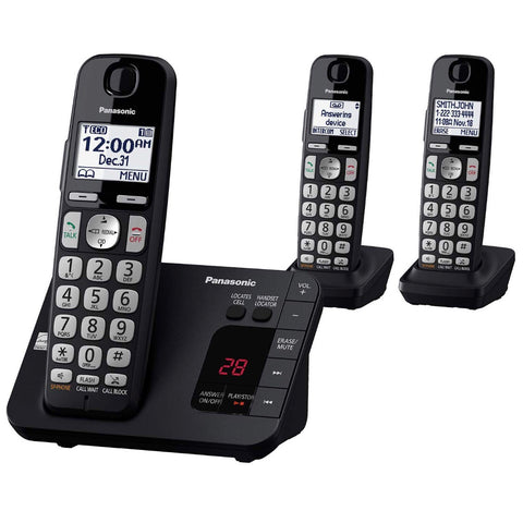 Panasonic Cordless Phone System-Answering Machine - Call Blocking 3 Handsets
