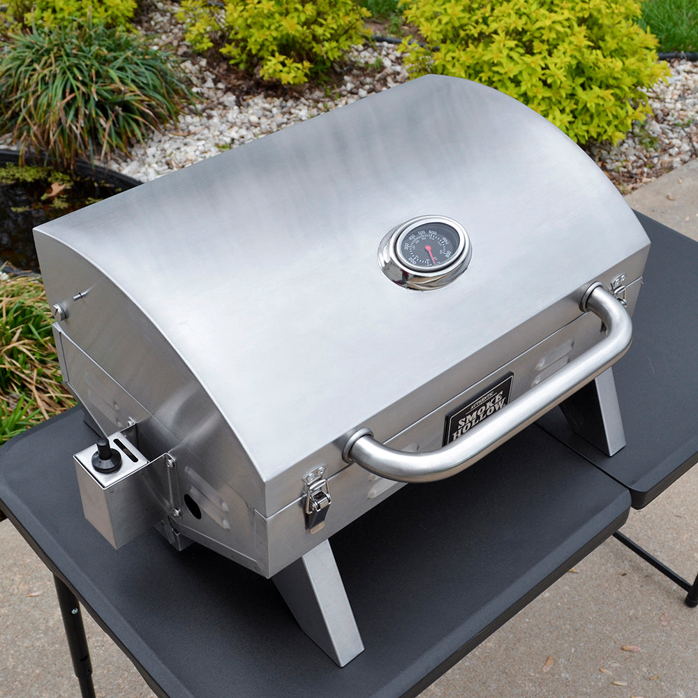 Model 205 Stainless Steel Tabletop Grill Smoke Hollow