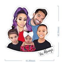 Load image into Gallery viewer, Family and Us Always Sticker Set