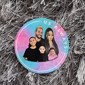 Family Tie Dye Sticker