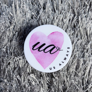 Pink Heart UA Phone Holder