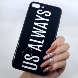 Black Us Always iPhone Case
