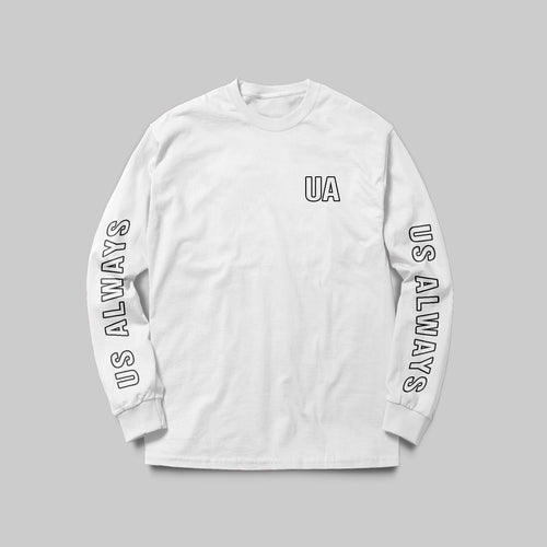 UA White Long Sleeve