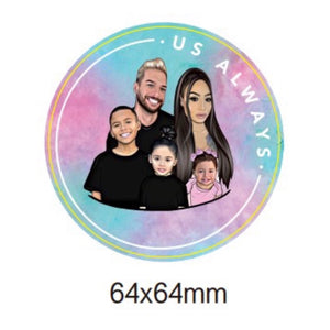Pink Family Sticker Set
