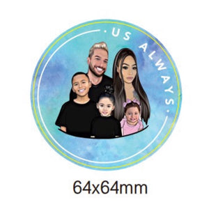 Blue Family Sticker Set