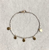 Keely Smith Sterling Beaded Bracelet with Gold Charms