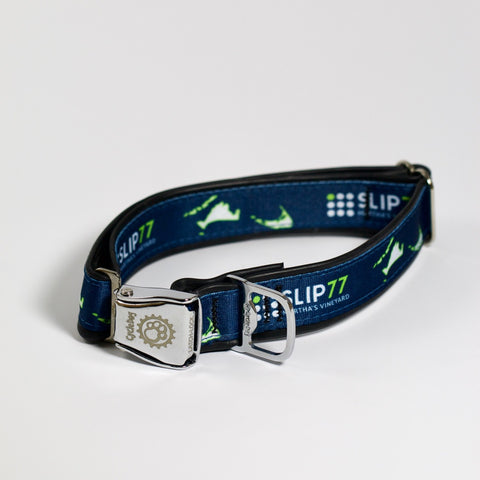 Nauti Dog x Slip77 Collar Cover, Sea Life