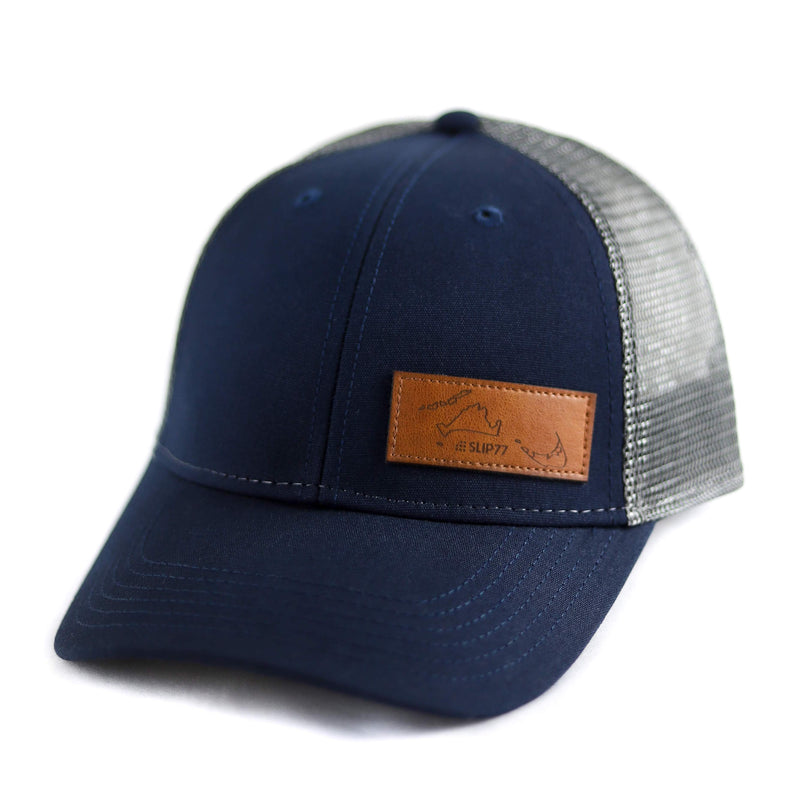 Slip77 Island Hopper Leather Patch Trucker