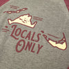 Women's Locals Only 3/4 Sleeve Tee
