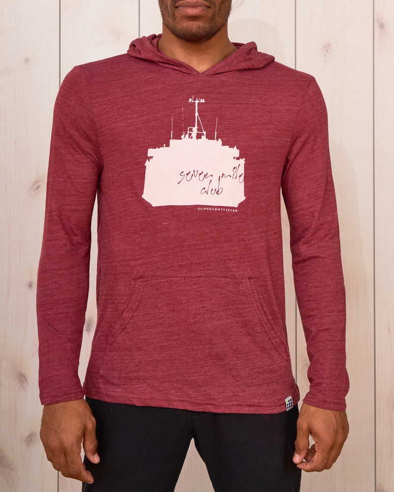 Men's 7 Mile Club Jersey Pullover Hoodie