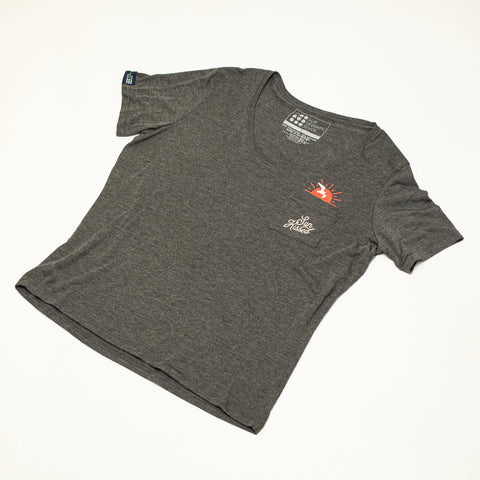 Women's USA Oars S/S V-Neck
