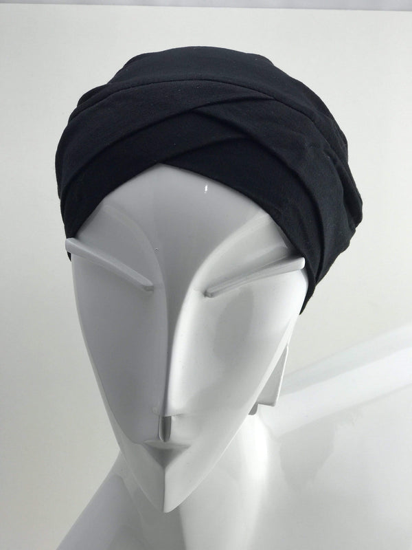 Hijabsandstuff BONNET Bonnet Black Handmade Luxury Fashion Women Headwrap