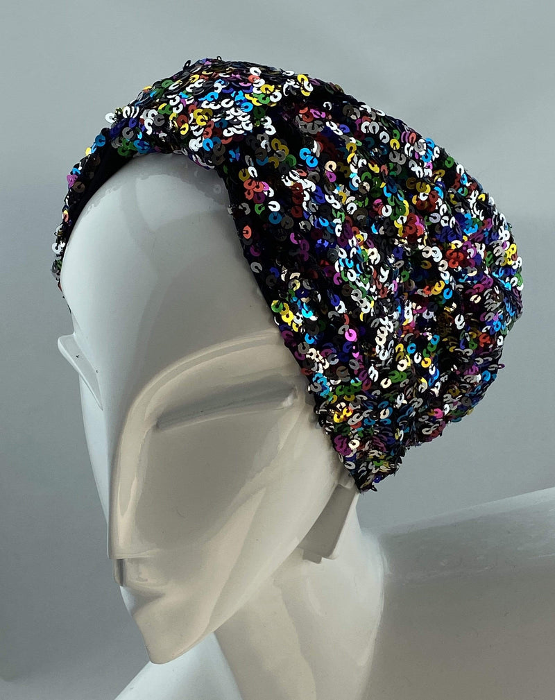 Hijabsandstuff Specials Turban Basic Sequin - Multicolour Handmade Luxury Fashion Women Headwrap