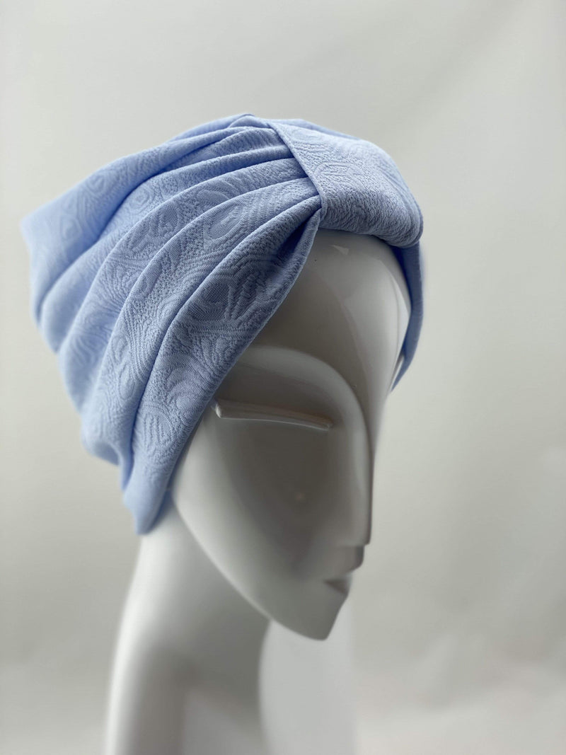 Hijabsandstuff TURBAN BASICS Turban Basic - Baby Blue Handmade Luxury Fashion Women Headwrap