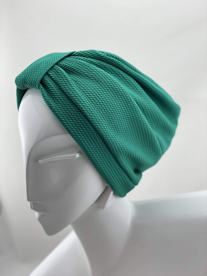 Hijabsandstuff TURBAN BASICS Turban Basic - Green Handmade Luxury Fashion Women Headwrap