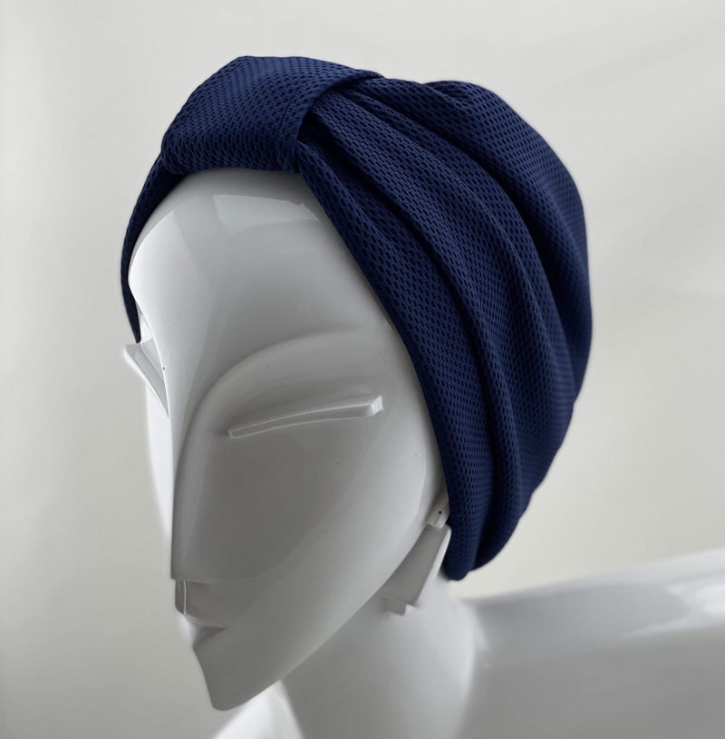 Hijabsandstuff TURBAN BASICS Turban Basic - Night Blue Handmade Luxury Fashion Women Headwrap