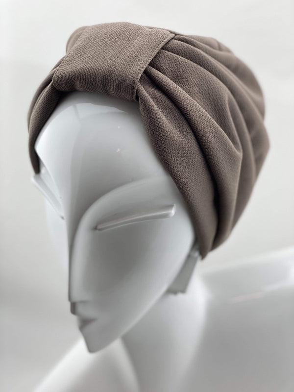 Hijabsandstuff TURBAN BASICS Turban Basics - Khaki Handmade Luxury Fashion Women Headwrap