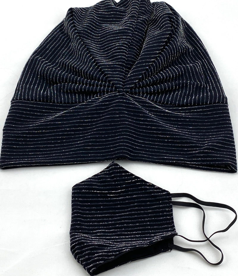 Beanie - Party (Black Silver)