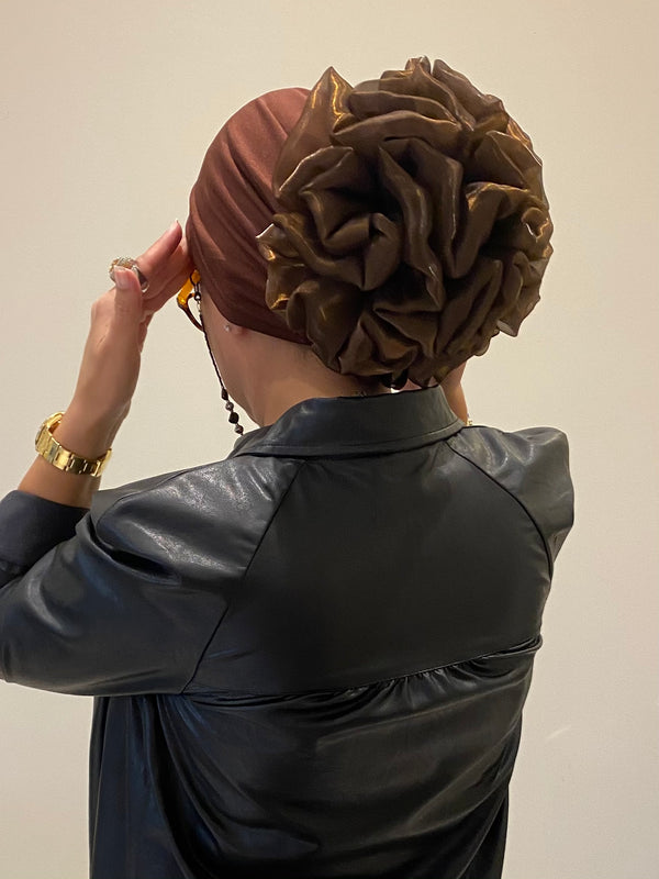 Volumizing Scrunchie Cap - Browns