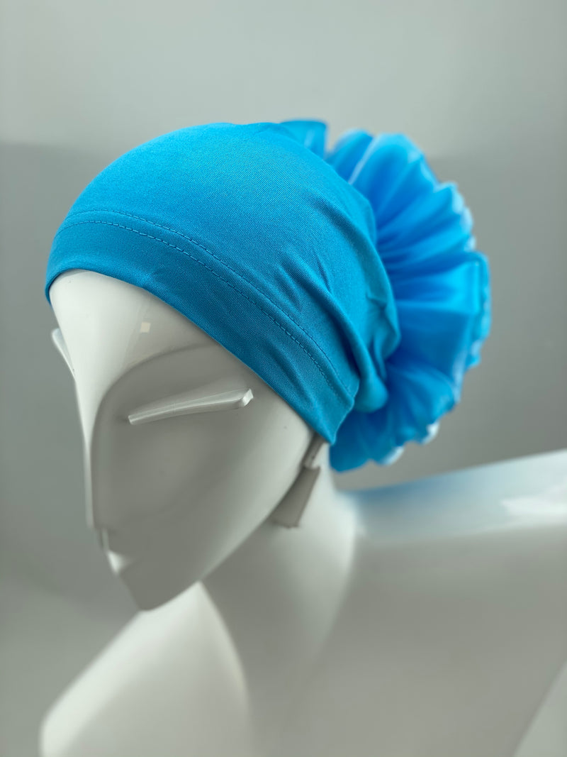 Volumizing Scrunchie Cap - Blue