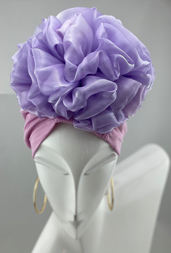 Volumizing Scrunchie Cap - Purple