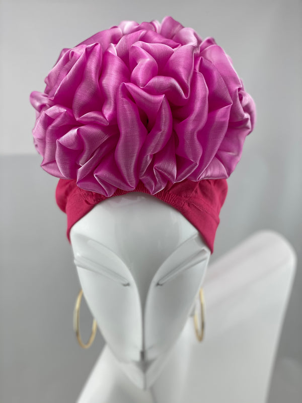 Volumizing Scrunchie Cap - Fuchsia