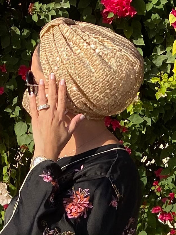 Turban Basic Sequin - Gold