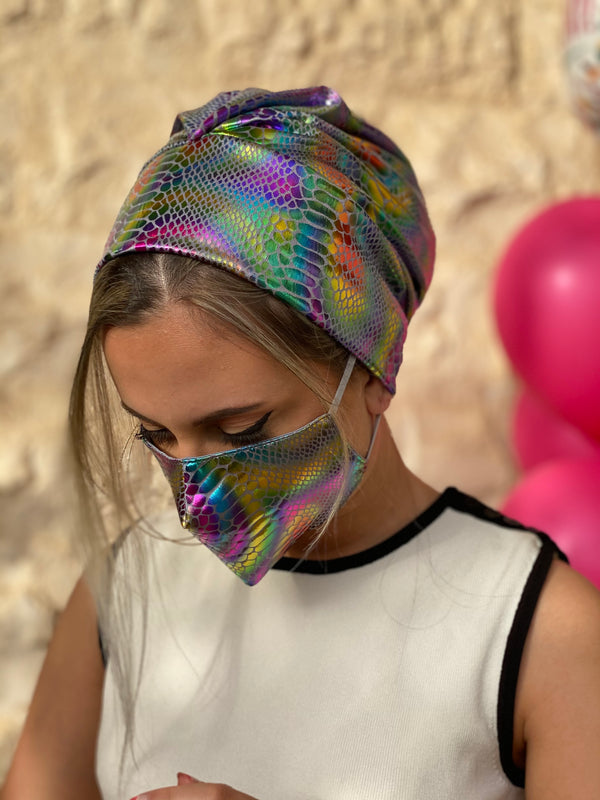 Beanie - Leather Style - Colourful (Designer Mask Included)