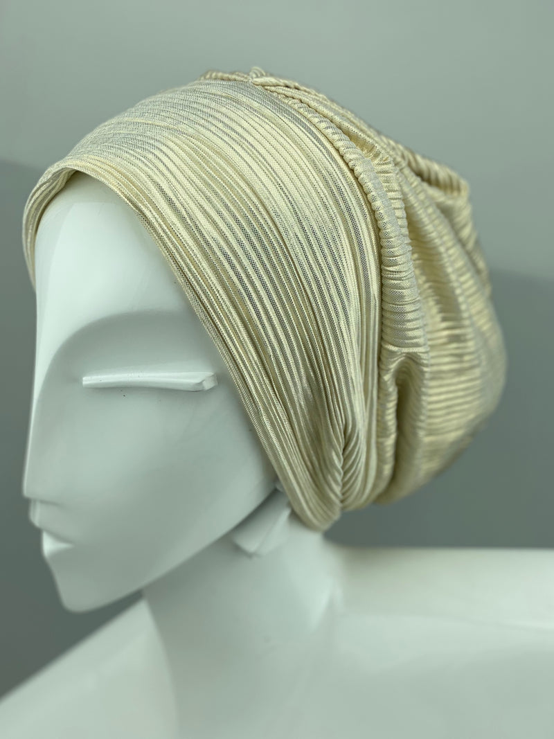 Metallic Beanie - Light Gold