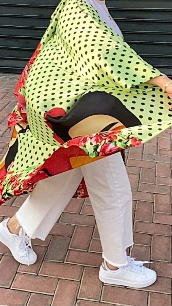 TurbansStuff Cardigan Cardigan - Neon Summer Set - Small Size Handmade Luxury Fashion Women Headwrap