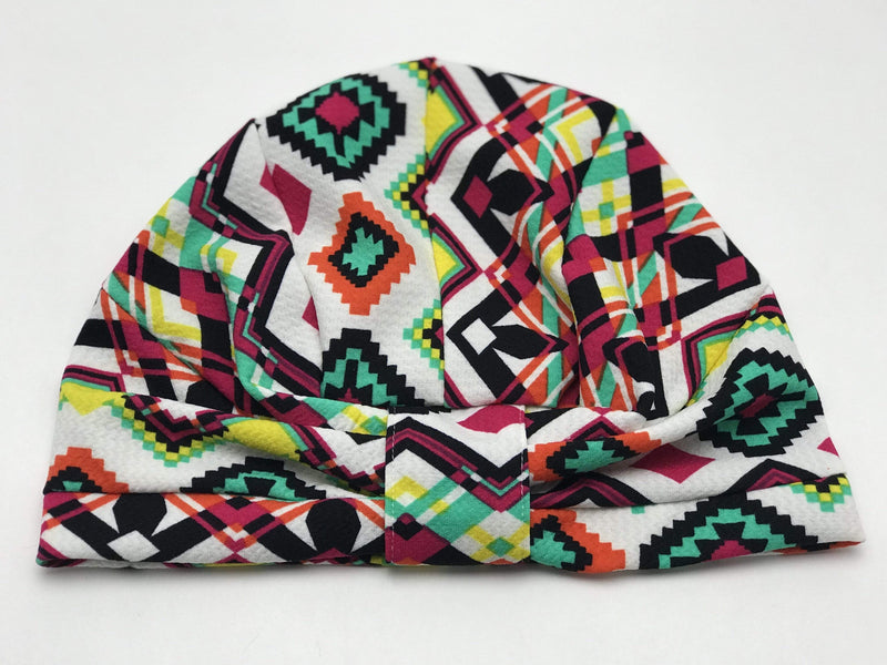 TurbansStuff Geometric turban Turban Geometric Colors Handmade Luxury Fashion Women Headwrap