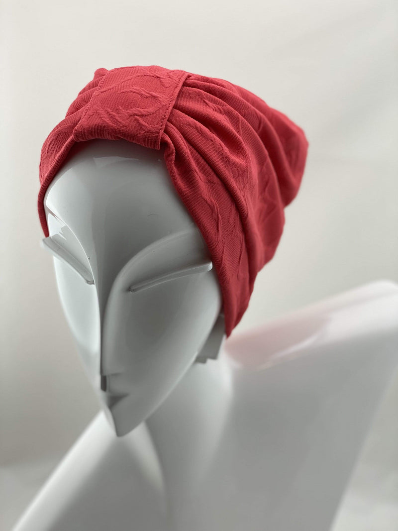 TurbansStuff TURBAN BASICS Turban Basic - Orange Handmade Luxury Fashion Women Headwrap