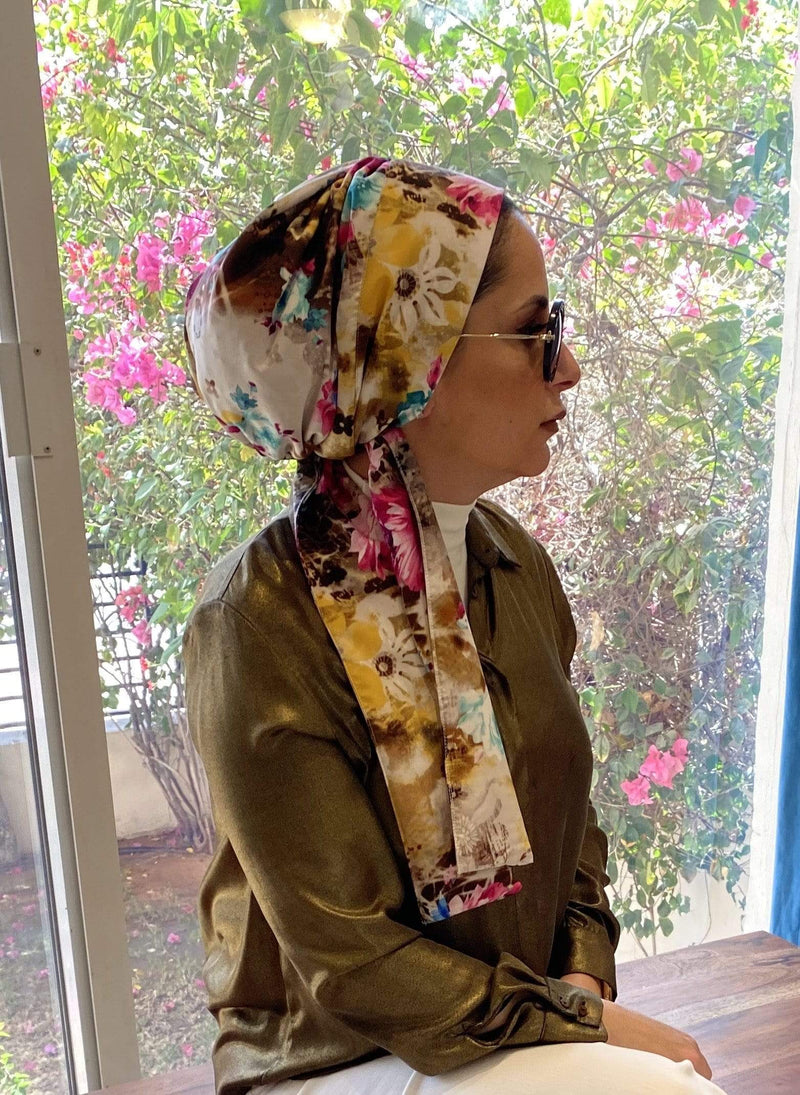 TurbansStuff Turban beanie Beanie Floral Wrap Handmade Luxury Fashion Women Headwrap