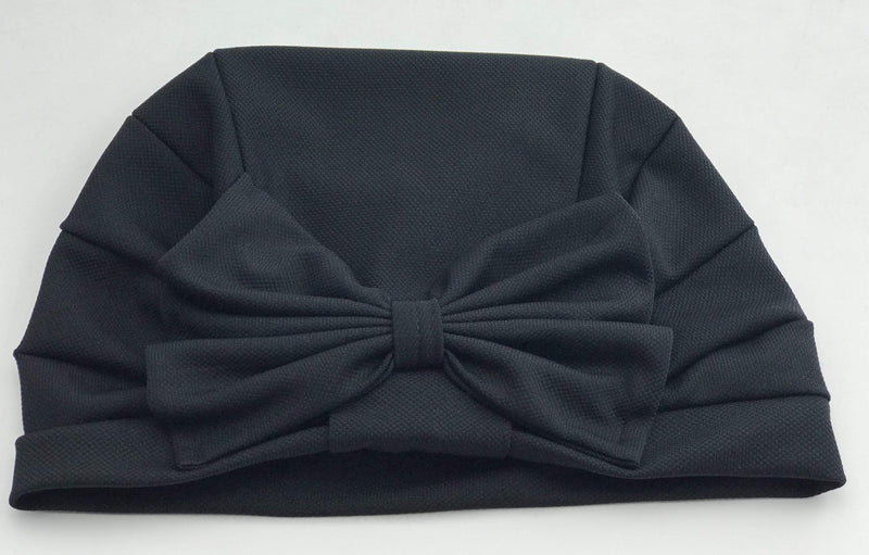 TurbansStuff TURBAN BOW Turban Bow - Black Handmade Luxury Fashion Women Headwrap