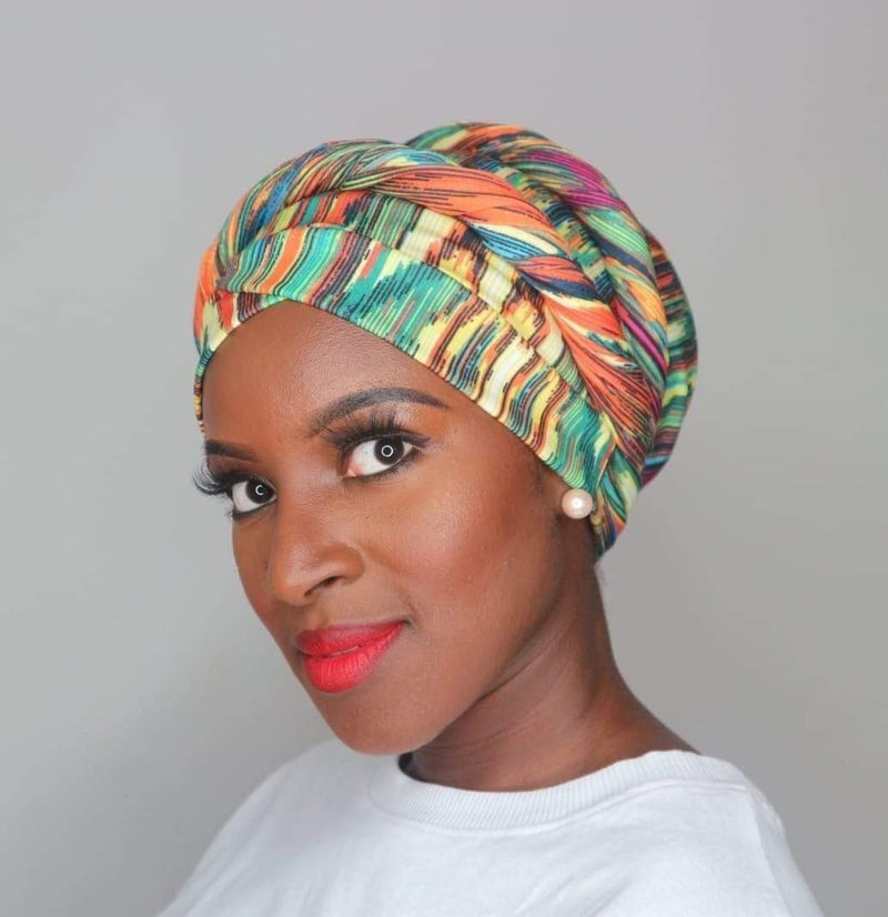 TurbansStuff Turban wrap Wrap - Forest Handmade Luxury Fashion Women Headwrap