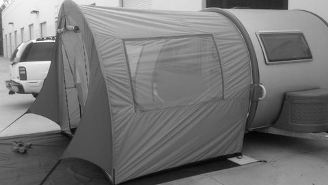 PahaQue T@B Trailer Side Tent - Silver Body with Silver Trim