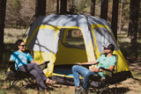 PahaQue Basecamp Quick Pitch 6 Person Tent, Gray/Yellow